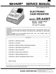 Sharp ER-87SL Service manual