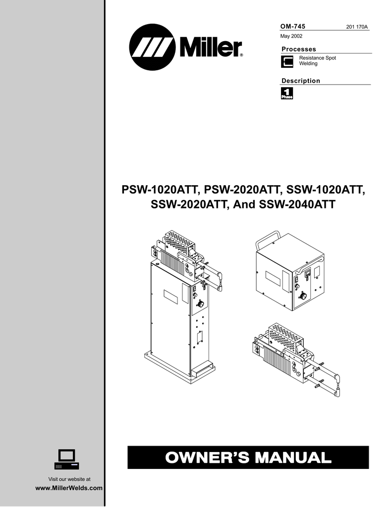 Miller 1020 Owner`s manual