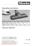 Miele S 6790 Operating instructions