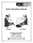 SCIFIT SXT7000 Operating instructions