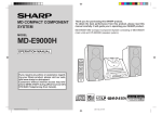 Sharp MD-E9000H Specifications