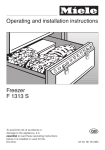 Miele F 7102 S Operating instructions
