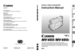 Canon MV 450 i Instruction manual
