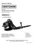Craftsman 316.794991 Operator`s manual