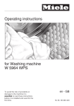 Miele W 5964 WPS Operating instructions
