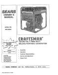 Craftsman 580.328391 Owner`s manual