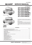 Sharp QT-CD210W(BL) Service manual
