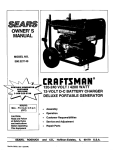 Craftsman 580.327140 Owner`s manual