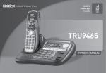 Uniden TRU9465 Specifications