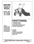 Craftsman 247.797855 Owner`s manual