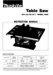 Makita 2708 Instruction manual