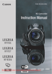 Canon LEGRIA HF R57 Instruction manual