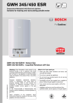 Bosch GWH 450 ESR Specifications