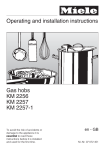 Operating and installation instructions Gas hobs KM 2256 KM 2257