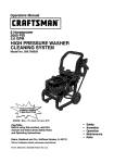 Craftsman 580.768020 Operating instructions