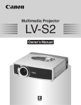 Canon LV-S2 Owner`s manual
