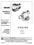 Craftsman 143.006716 Operator`s manual