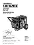 Craftsman 580.327182 Operators Operating instructions