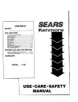 Sears 71381 Installation guide