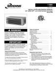 Modine Manufacturing 1-500 Service manual