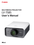 Canon LV-7585 User`s manual
