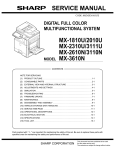 Sharp MX-2310U Service manual