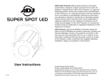 American DJ DJ Spot LED Specifications