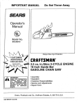 Craftsman 358.352161 Operator`s manual