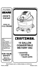 Craftsman 113.170160 Owner`s manual
