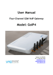 VADcore GoIP4 User manual