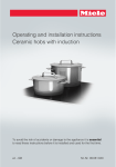 Operating and installation instructions Ceramic hobs with