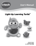 VTech Light-up Learning Turtle User`s manual