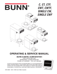 Bunn CWT Service manual