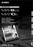 Yamaha MW10c Owner`s manual