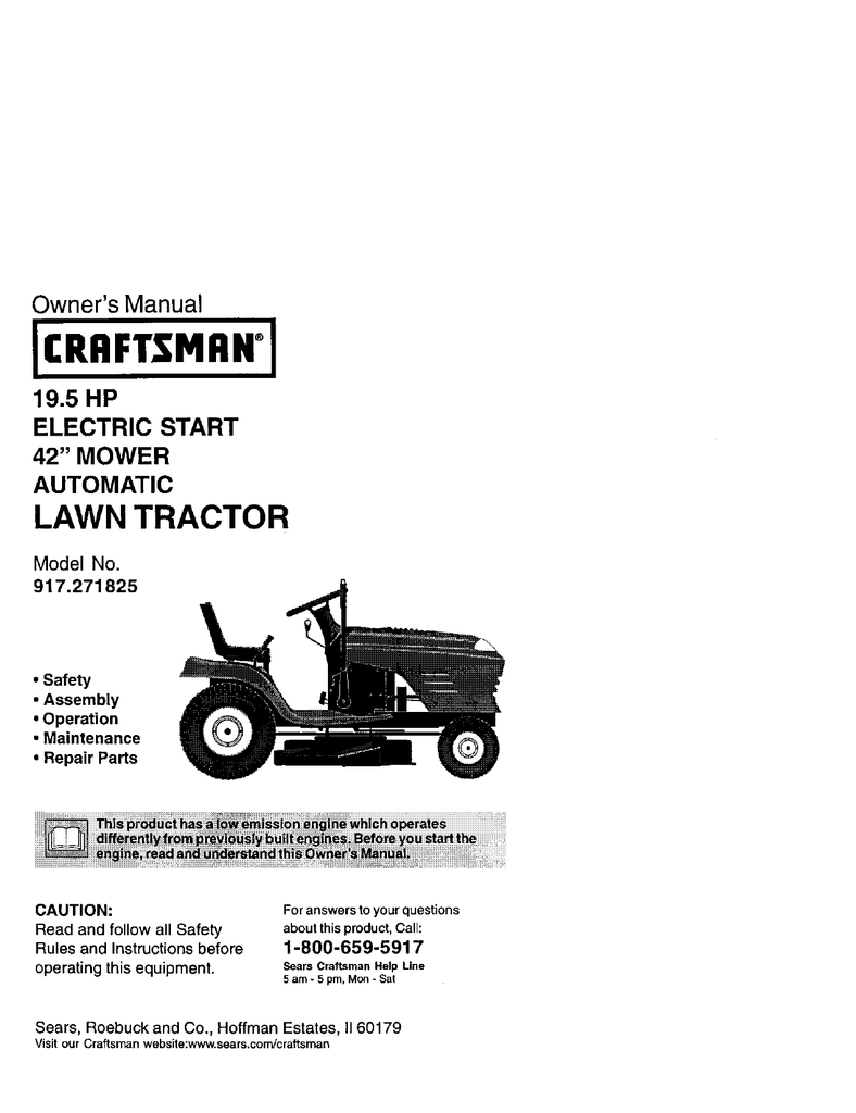 917271022 Craftsman Wiring Schematic Trusted Schematics Diagram Tractor 917 271825 Owners Manual