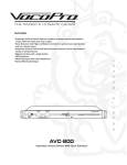 VocoPro AVC-800 Operating instructions