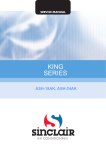 Air King AX SERIES Service manual