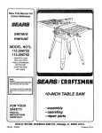 Craftsman 113.298722 Specifications