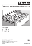 Miele F 1365 S Operating instructions