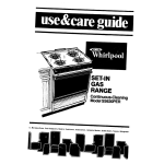 Whirlpool SS63OPER Use & care guide