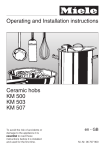 Operating and Installation instructions Ceramic hobs KM 500