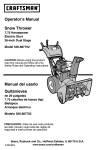 Craftsman 536.887752 Operator`s manual