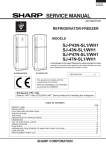 Sharp SJ-43N-BE Service manual