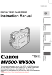 Canon MV500 Instruction manual