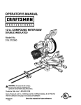 Craftsman 315.212350 Operator`s manual