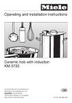 Operating and installation instructions Ceramic hob with