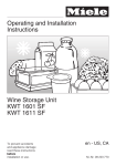 Miele KWT1611SF Operating instructions
