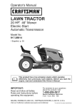 Craftsman 917.28814 Operator`s manual