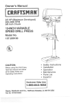 Craftsman 137.229130 Operating instructions