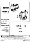 Craftsman 143.995008 Operator`s manual